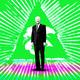 GIF of the Eye of Providence and Joe Biden