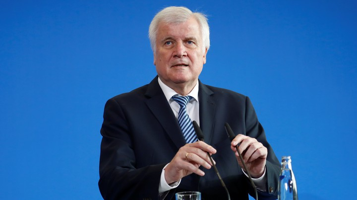 German Interior Minister Horst Seehofer, the chairman of the CSU party, addresses a news conferencein Berlin on September 19, 2018.