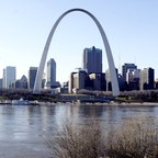 The downtown St. Louis skyline.