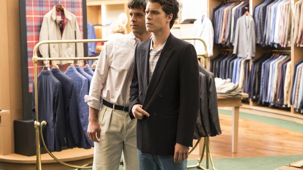 Lyle Menendez (Miles Gaston Villanueva) and Erik Menendez (Gus Halper) in a scene from 'Law and Order True Crime: The Menendez Murders'