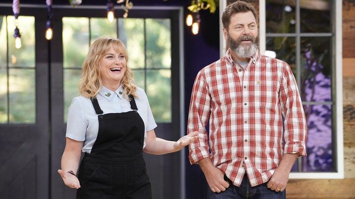 Amy Poehler and Nick Offerman in <i>Making It</i>