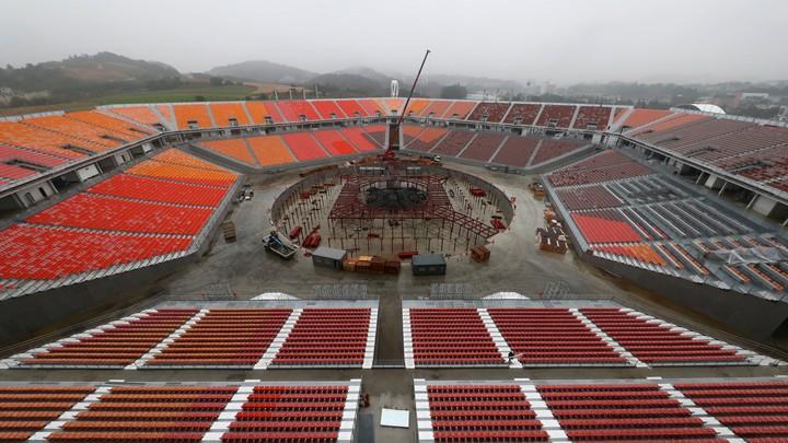 The Olympic Stadium in PyeongChang South Korea