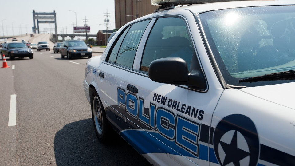 A New Orleans police car