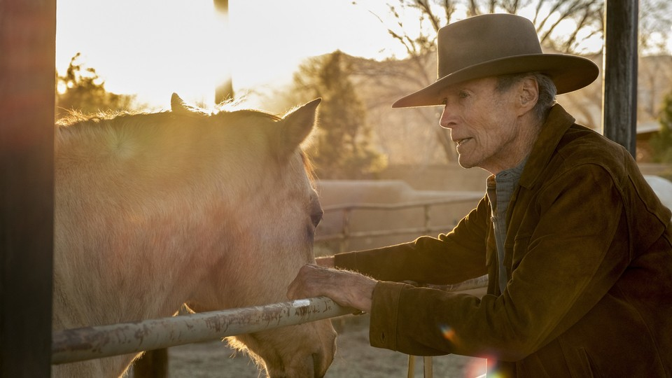Clint Eastwood with a horse
