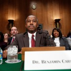 HUD Secretary Ben Carson answers questions at his confirmation hearing.