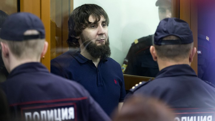 Zaur Dadayev listens to his sentence in a Moscow court room on July 13, 2017.