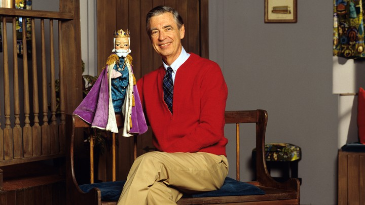 Fred Rogers and a puppet