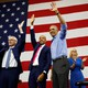 Barack Obama at a campaign rally for Wisconsin Democratic candidates (the gubernatorial candidate Tony Evers, the lieutenant-governor candidate Mandela Barnes, and the state treasurer candidate Sarah Godlewski) on October 26
