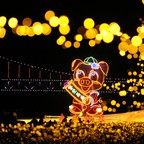 Giant pig-shaped lantern lights up ahead of the New Year and Lunar New Year celebrations at Xinghai Square