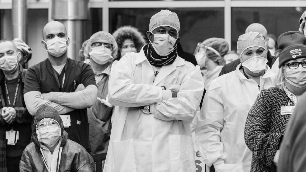 Medical professionals at Coney Island Hospital