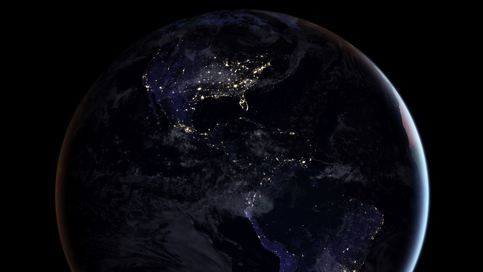 Planet Earth, as seen from a satellite
