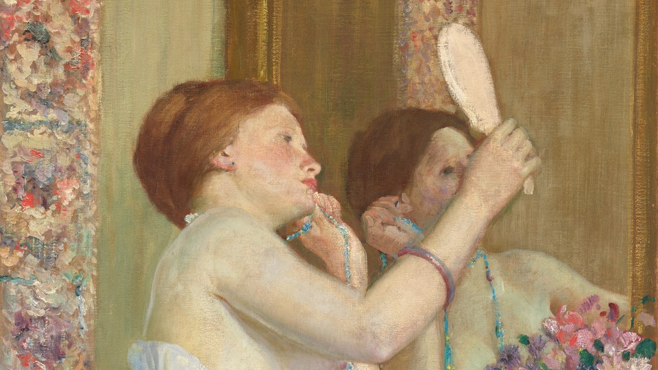 Woman With a Mirror by Frederick Carl Frieseke