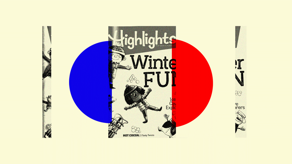 """An illustration featuring """"Highlights"""" magazine"""
