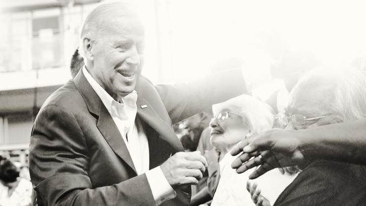 Joe Biden greets supporters.