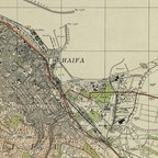 A detail from a 1942 British Mandate map of Haifa, now a city in Israel.
