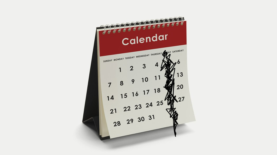 An illustration of a calendar with Fridays crossed out.