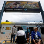 a photo of the L.A. Metro Expo Line extension