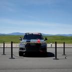 An autonomous Audi SUV.