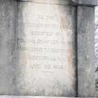 Inscriptions on a Confederate monument in Linn Park in Birmingham, Alabama.
