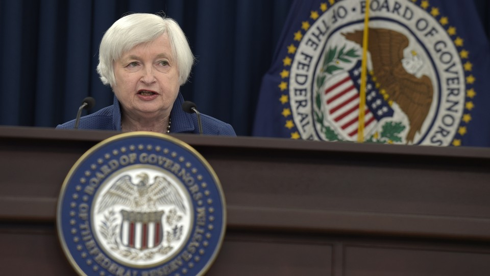 Federal Reserve Chair Janet Yellen speaks during a news conference in Washington, D.C. on Wednesday, March 15, 2017.