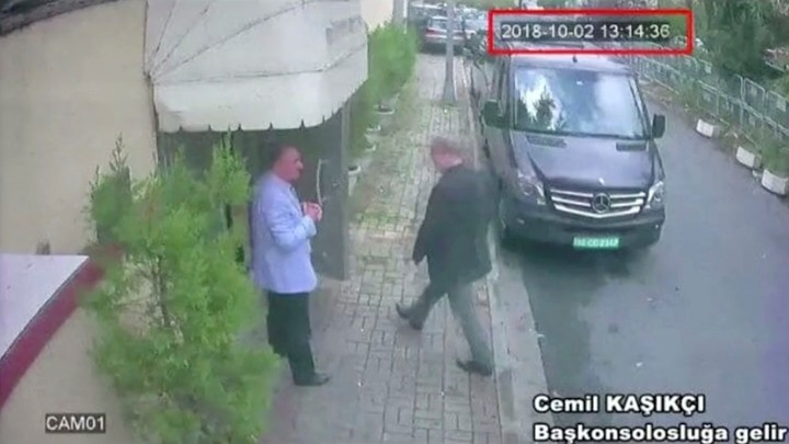 A still image taken from CCTV video shows Jamal Khashoggi as he arrives at Saudi Arabia's consulate in Istanbul, Turkey on Oct. 2, 2018.