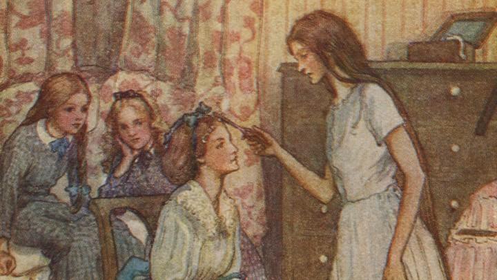 "An illustration from Louisa May Alcott's ""Little Women"""