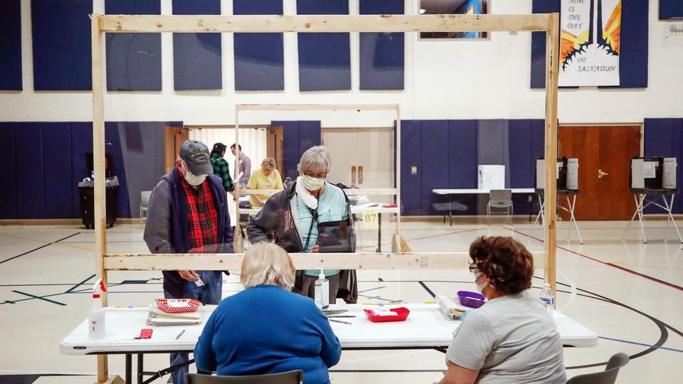 A polling station in Kenosha, Wisconsin