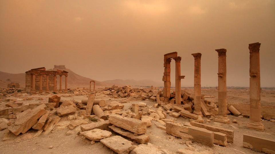 Crumbling desert ruins
