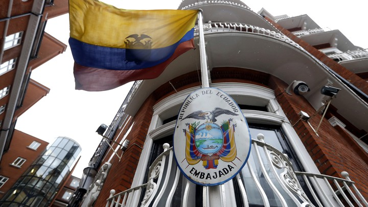 The Ecuadorian Embassy in London, where Julian Assange has lived since 2012.