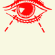 Illustration of a far-seeing eye