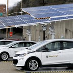 A fleet of electric vehicles in Pittsburgh.