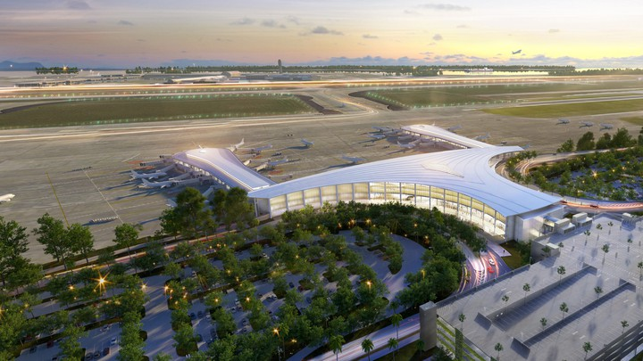 An artist's rendering of the new New Orleans airport