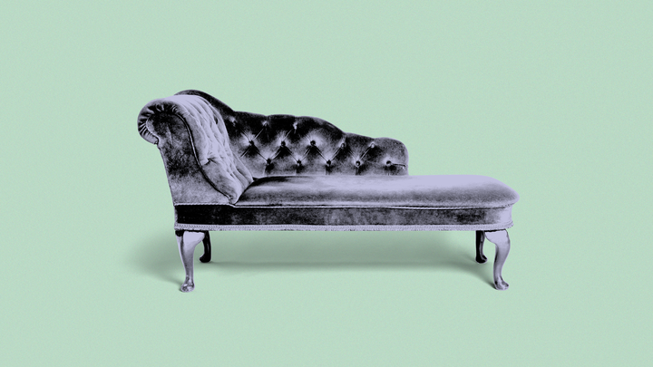 A photo of a therapist's couch