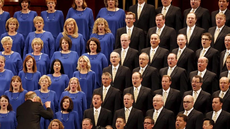 The Mormon Tabernacle Choir sings in Salt Lake in 2015.