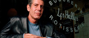 Anthony Bourdain in 2001, when he was still the chef-owner of Les Halles in New York City.