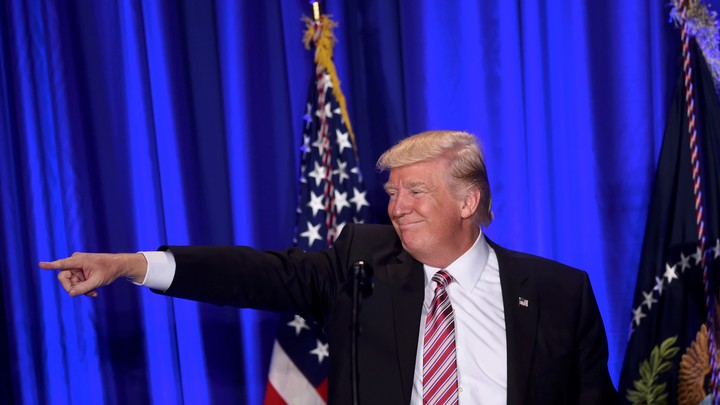 "U.S. President Donald J. Trump speaks during the 2017 ""Congress of Tomorrow."""