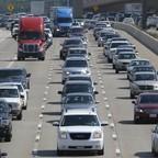 a photo of rush hour traffic outside Dallas, Texas.