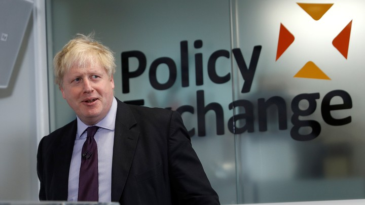 British Foreign Secretary Boris Johnson speaks at the Policy Exchange in London on February 14, 2018.
