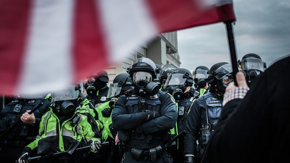Riot police at the U.S. Capitol