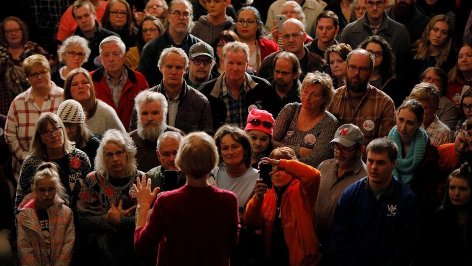 Massachusetts Senator Elizabeth Warren speaks at an event in Sioux City, Iowa, in early January.