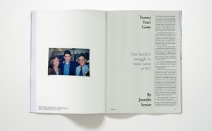 "Photo of magazine open to Jennifer Senior's cover story ""Twenty Years Gone"""