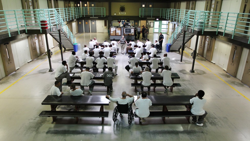 Prisoners at the A. MCI-Shirley Medium Correctional Center in Massachusetts.