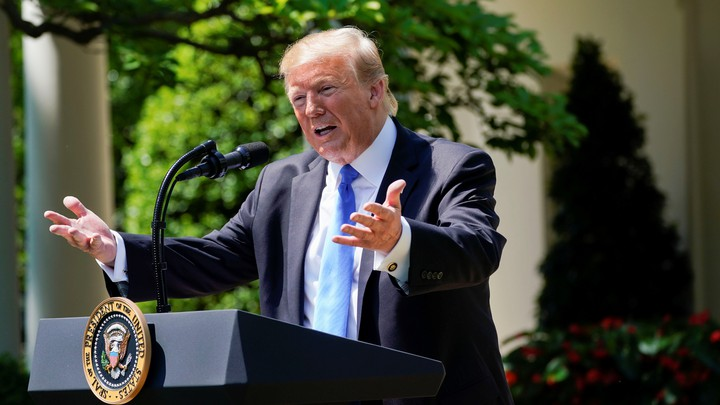 President Trump speaks at a National Day of Prayer event on May 2.