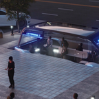 A rendering of Elon Musk's Chicago Express Loop, which would transport passengers from downtown to O'Hare in 12 minutes.