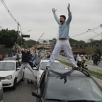 In October, Uber drivers in Sao Paulo staged a protest over impending ride-hailing regulations.