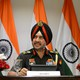 LieutenantGeneral Ranbir Singh, the Indianarmy's director general of military operations, addresses themedia in New Delhi, India, on Thursday.