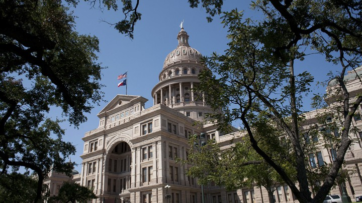The Texas capitol building.