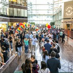 photo: people in an atrium