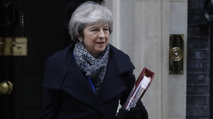 Theresa May leaves 10 Downing Street on Wednesday.