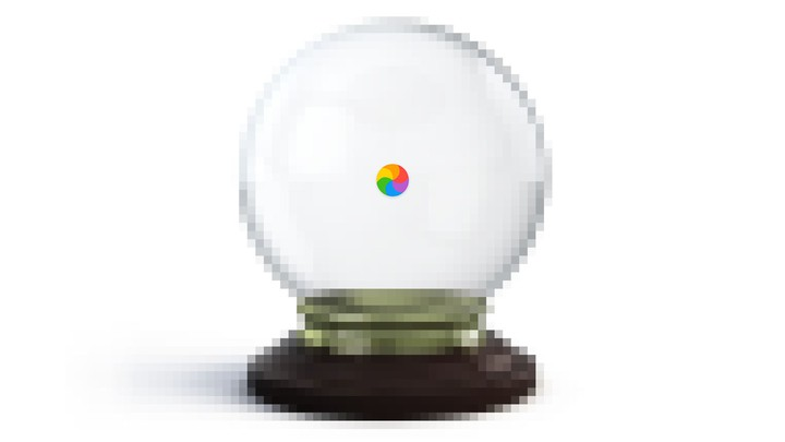 An illustration of a crystal ball with a spinning beach ball loading on top.